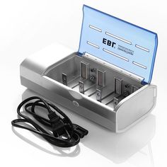 EBL Battery Charger For AA AAA 9V C D 9-Volt Ni-MH Ni-CDRechargeable Batteries #EBL