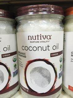 Coconut oil unrefined, virgin. I use this for my skin, and hair. I use 1 tbsp to soak leaves my skin with a silky glow.