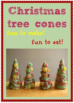 How to make Christmas tree cones - really easy for the kids to make and fun!