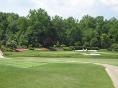 Renditions Golf Course in Maryland. The holes mimic championship courses. This is Augusta's 12th hole.