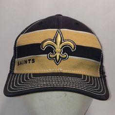 Vintage New Orleans Saints NFL Reebok Hat S M Stretch Fit Dad Caps T10  JL8016 9077c92d3