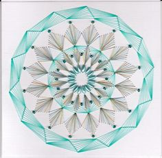 ED082 Aqua Mandala on Craftsuprint designed by Emy van Schaik - made by   - Stitching with beads.This aquablue card take some time to make, but I really enjoyed it to make this card.Hope you enjoy it too. - Now available for download!