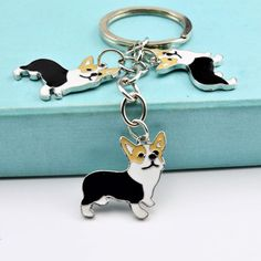 Key Rings Automobiles & Motorcycles Have An Inquiring Mind Cartoon Corgi Classic High-grade Key Ring Key Chain Retro Keychain Car Keyring Car Accessories To Win A High Admiration