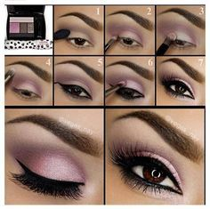 Pink Eyeshadow | Eyeshadow Tutorials for Brown Eyes - | How To Make Eyes Look Sexy And Dramatic by Makeup Tutorials at http://makeuptutorials.com/12-colorful-eyeshadow-tutorials-brown-eyes/
