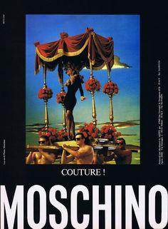 VIOLETTA SANCHEZ  Moschino Ad  1988