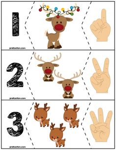 Teach counting skills with Reindeer! Great for teaching counting skills and number recognition for numbers Quick prep and great for math centers! Christmas Worksheets, Christmas Math, Preschool Christmas, Noel Christmas, Christmas Activities, Christmas Themes, Christmas Crafts, Preschool Workbooks, Autism Activities