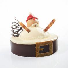 """Bûche de Noël """"Pirouette de Noël"""", Christophe Roussel"""
