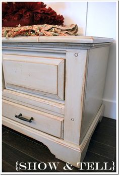 Sweet Pickins . It tells you how to glaze a newly painted piece of furniture