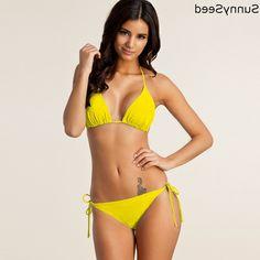 38.49$  Buy now - https://alitems.com/g/1e8d114494b01f4c715516525dc3e8/?i=5&ulp=https%3A%2F%2Fwww.aliexpress.com%2Fitem%2FSunnySeed-Brand-Summer-New-Push-up-Bikini-Padding-Women-Bikinis-mujer-verano-2016-Solid-Swimwear-Maillot%2F32683273083.html - SunnySeed New Push up Bikini Plus Size XXXL Padding Women Solid reversible ironman triathlon Bodyboard Maillot de bain 38.49$