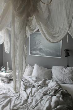 Bohemian bedroom, baldakin, baldachin, canopy. Poster from lekiosk