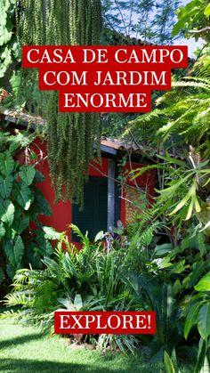 Tropical Landscaping, Tropical Garden, Farm Cottage, Herb Garden, Beautiful Gardens, Architecture, Plants, House, Design