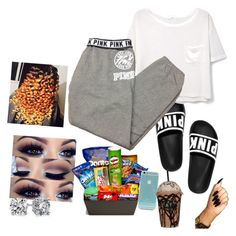 """""""Untitled #105"""" by lanilove2 ❤ liked on Polyvore featuring MANGO, Victoria's Secret, Junk Food Clothing, Pieces and Blue Nile"""