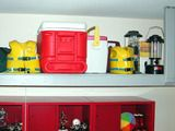 from DIY Network: build and install a shelf frame for the garage.