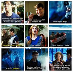Percy Jackson: Sea of Monsters My favorite is definitely Hermes. Percy Jackson Movie, Percy Jackson Fandom, Sea Of Monsters, Percy And Annabeth, Trials Of Apollo, Rick Riordan Books, Percabeth, Heroes Of Olympus, Olympians
