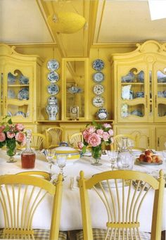 Vintage Yellow Dining Room