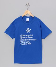 Take a look at this Royal Blue Pirate Checklist Tee - Kids & Adult by Crazy Dog on #zulily today!
