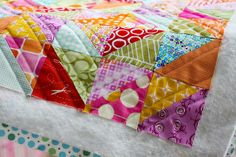 Warm Cool Quilt Along - Quilting by Jeni Baker. Basting and Quilting with video tutorial.