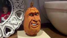 Latest pumpkin head carving. Yes, this is a self portrait.