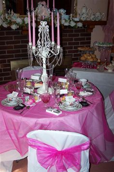 "This was a surprise Birthday party in a Tea ""Party theme given at home. She was so surprised to see all the beautiful decorations. Thank You ""Smarty had a Party"" for all your help."" - Lorena"