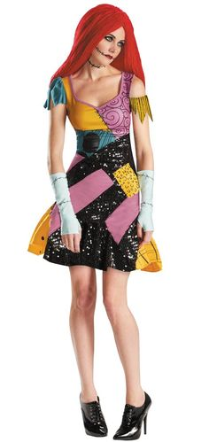 Sally Glam Adult Costume - Nightmare Before Christmas Costumes
