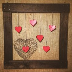 #Rain of #hearts - #recycle #wood #pallets #homedecor #riciclo #riciclocreativo #legno #wire