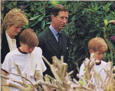 Prince and Princess of Wales with Princes William and Harry