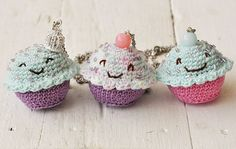 Happy Cuppy Friends #crochet #cupcakes