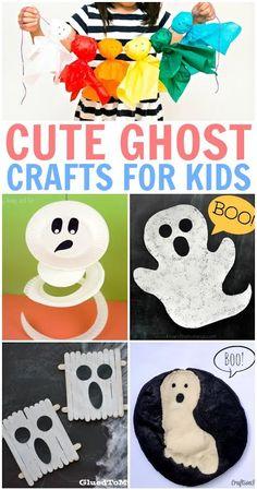Scary Fun Ghost Crafts for Kids Halloween Craft Activities, Fun Halloween Games, Diy Halloween Costumes For Women, Halloween Crafts For Kids, Halloween Themes, Fall Crafts, Halloween Party, Halloween Templates, Halloween Sewing