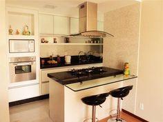 bancada com cooktop - 31 cozinhas americanas projetadas por profissionais do CasaPRO - Casa