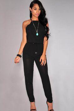 1000 ideas about casual black jumpsuit on pinterest black jumpsuit