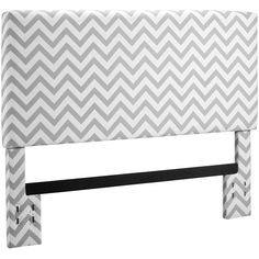Kinsley Chevron Full/Queen Headboard, Gray and White - From Walmart, only $169, it's an amazingly beautiful piece that easily looks like the bed from Pottery Barn, and is so much cheaper! It's really sturdy!