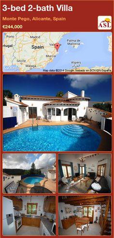 3-bed 2-bath Villa in Monte Pego, Alicante, Spain ►€244,000 #PropertyForSaleInSpain