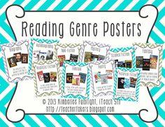 Reading Genre Posters (Chevron Pattern)