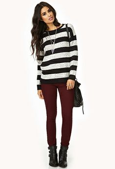 d48b01365 Wine colored pants  -- Wine pants can pair with navy