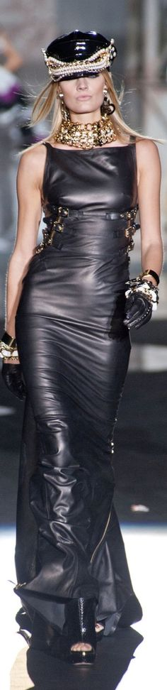 Dsquared2 Spring 2013 ♥✤:  All I can think about is a George Michael video when I see this look.  I like it, edgy!