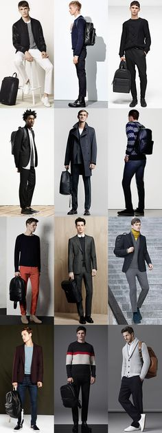Men's 2015 Autumn/Winter Bad Styles: Leather Backpacks Outfit Inspiration Lookbook