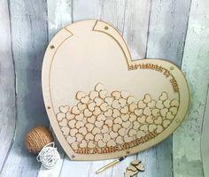 Wedding Drop Box Love Heart Wooden Wedding by ForgetMeKnotWed