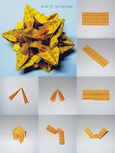 #Kusudama #Xenia designed discovered by #AnnaLarinova ( aka #IIIypIIIyH4uK ) - #origami #tutorial (photo 01 of 2, check next one on photostream)