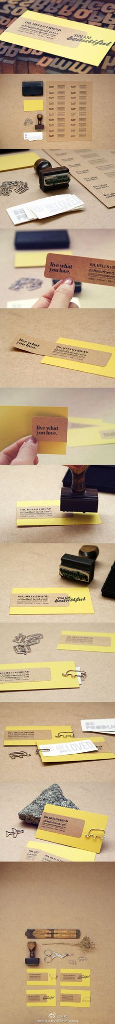 Oh, Hello Friend! Creative new style of business card gives you contact info with a little pick-me-up