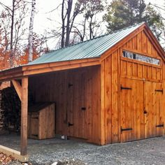 14x20 One Bay Garage   Customized With The 8x20 Overhang Upgrade And 8 Foot  Double Barn