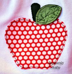 Stubbornly Crafty: An Apple a Day Applique Shirt