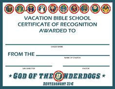 This printable certificate bordered in purple recognizes dedicated image result for free printable vacation bible school certificates yadclub Choice Image
