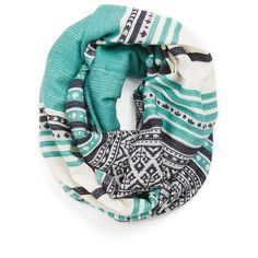 Women's Michael Stars Woven Infinity Scarf (990 MXN) ❤ liked on Polyvore featuring accessories, scarves, bufandas, other, lightweight shawl, lightweight infinity scarf, print infinity scarf, pattern infinity scarf and circle scarves