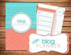 Blog Planner Printable SIZE SMALL 5.5 x 8.5  by BreezyOrganization, $10.00