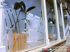 Abstract designs on your windows can create a very different experience!