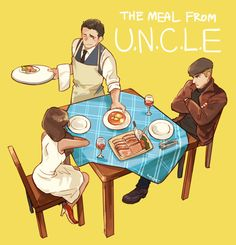 The Man from U.N.C.L.E. fan art - Because Napoleon loves to cook!