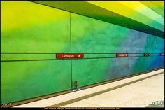 """U-Bahn-Station """"Candidplatz"""" - München-Spezial #München #Munich #Bayern #Bavaria #Deutschland #Germany #subway #underground #station #igersgermany #IG_Deutschland #underground_enthusiasts #biancabuergerphotography #metro #shootcamp #pickmotion #architecture #Architektur #green #blue #yellow"""