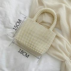 Handmade Women Pearl Bags Designer Beaded Shoulder Bags Charm White Pearls Crossbody Bag Luxury Evening Clutch Purse Lady 2019 - 15 Source by CreativeDreamscape bag luxury Beaded Purses, Beaded Bags, Party Vintage, Aesthetic Bags, Diy Purse, White Clutch Purse, Cute Bags, Vintage Handbags, Luxury Bags