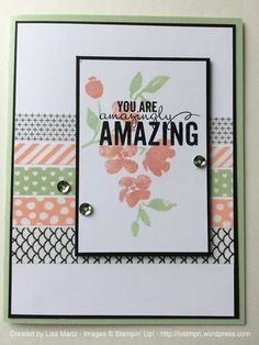Made a variation of this design. Card from Lisa Martz @ Get Your Stamp On.