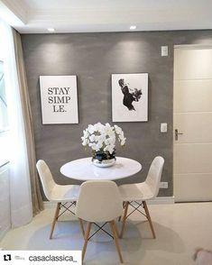 Kitnet & Studio Decoration: Designs & Photos - Home Fashion Trend Home Decor Inspiration, Interior, Dining Room Small, Home N Decor, Home Decor, Home Deco, Living Decor, Home And Living, Minimalist Home